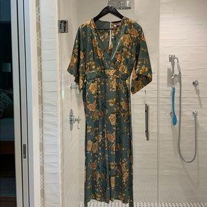 Zara Floral Silk Jumpsuit